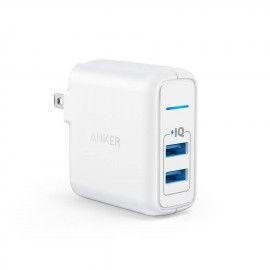 Anker PowerPort Elite 2 PowerIQ Dual Port 24W USB Travel Wall Charger