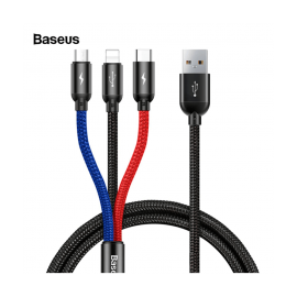 Baseus 3 In 1 Micro USB Type-C Lightning Charging Cable
