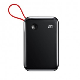Baseus 10000mAh Mini S Digital Display 3A Power Bank With iPhone Cable