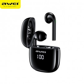 AWEI T28P TWS Wireless Bluetooth Earbuds LED Digital Display