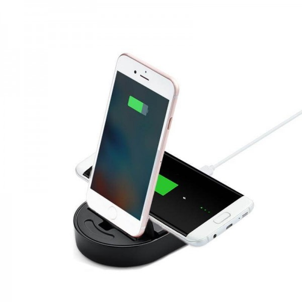 totu design qi wireless charger iphone charge dock. Black Bedroom Furniture Sets. Home Design Ideas