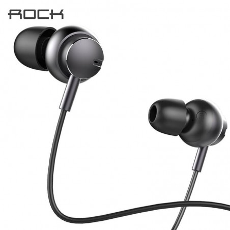 ROCK Mubow Stereo In-Ear Metal Headphone Earphone Mic