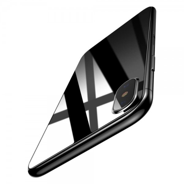 sale retailer 1abcc 0b863 Baseus iPhone X Full Cover Front & Back Tempered Glass Protector -  Transparent