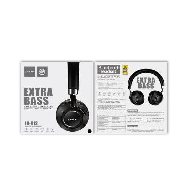 2bf32151059 ... Extra Bass Bluetooth Headphone. Reference: Joyroom JR-H12.  In Stock