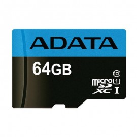 Adata 64GB MicroSD UHS-I Class 10 Memory Card with Adapter