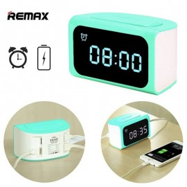 Remax RMC-05 LED Digital Alarm Clock Timer with 4 USB Charging Adapter