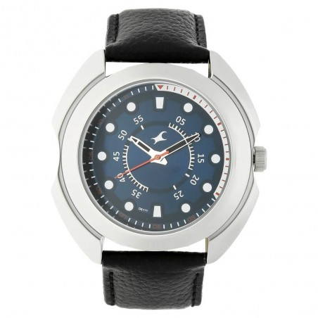 Fastrack Leather strap watch for Men NK3117SL04
