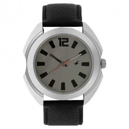 Fastrack Bare Basic Silver Dial Analog Watch for Men NK3117SL02