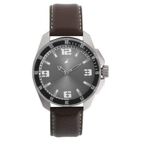 Fastrack Grey Dial Analog Watch for Men NK3084SL02