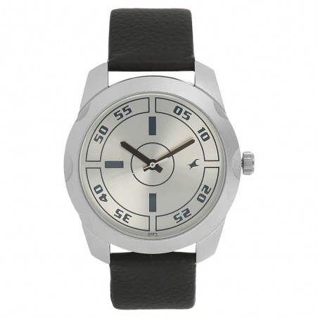 Fastrack Silver Dial Analog Watch for Men NK3123SL01