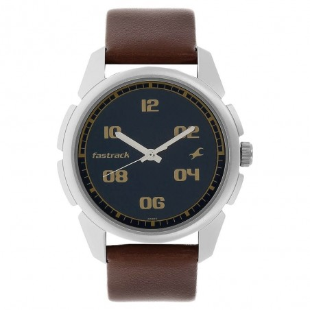 Fastrack Blue Dial Analog Watch for Men NJ3124SL02C