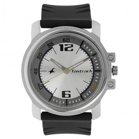 Fastrack Silver-White Dial Analog Watch for Men NK3039SP01
