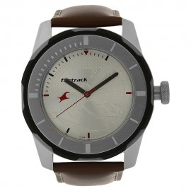 Fastrack Silver Dial Analog Watch for Men NK3099SL01