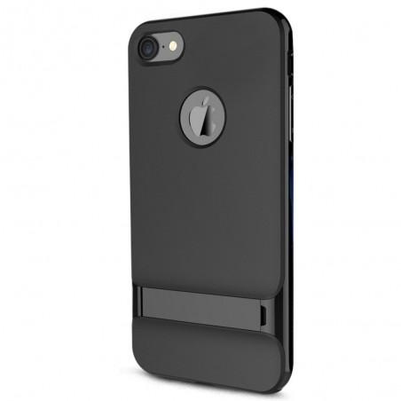 Rock Royce iPhone 7 Kickstand Cover Case Jet Black