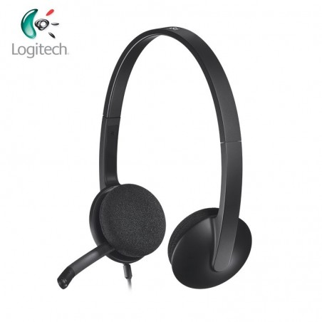 Logitech USB Computer Headset H340 1.8m Length with USB Jack Support