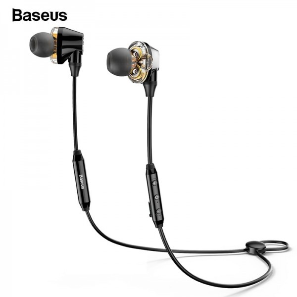4e1a5906f3f6e8 Baseus Encok Music S10 Dual Driver Moving Coil Wireless Bluetooth Earphone  Headphone