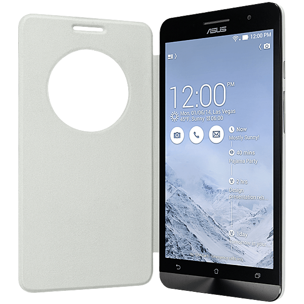best loved 66ec9 8e434 Asus ZenFone 5 View Flip Cover (White)