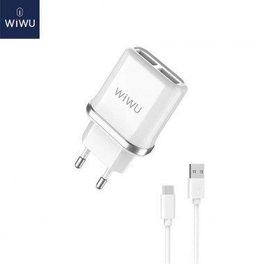 WIWU USB Wall Charger 2xUSB...